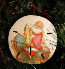 Santa is Making His List – on a Sand Dollar